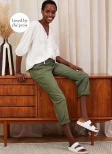 Shop Easter Organic Cargo Trousers Khaki and more