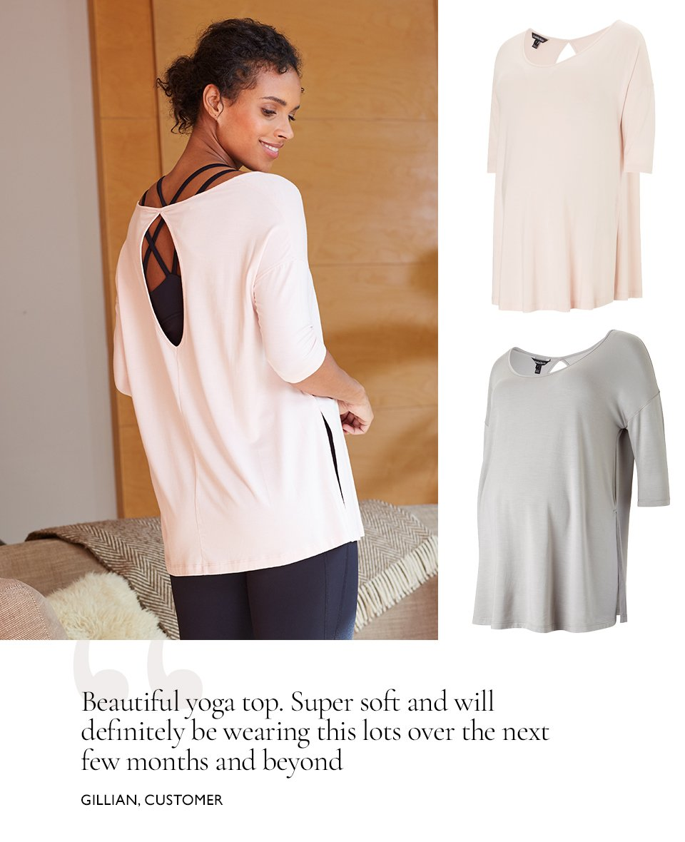 Shop Isabella Oliver The Maternity Yoga Top, Isabella Oliver The Maternity Yoga Top-Ash Grey, Isabella Oliver Maternity Active Tank-Caviar Black and more