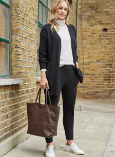 Shop Darcy Eco Cashmere Trouser Caviar Black and more