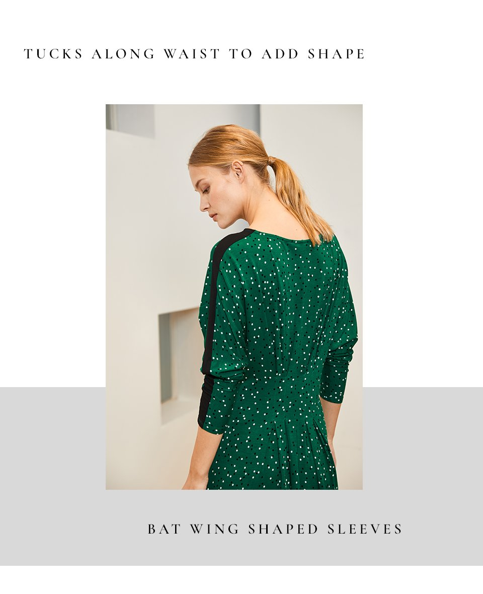 Shop Jessie Dress Emerald Polka and more