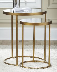Shop Majaci Accent Table (Set of 2), Gold Finish/White and more