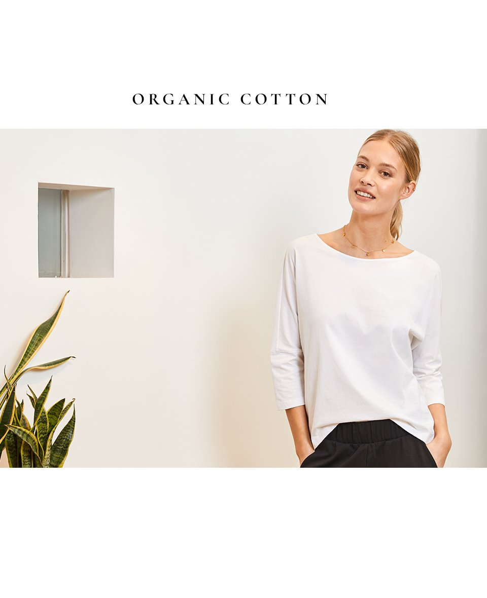 Shop Kendra Organic Top Pure White, Amelie Necklace Gold and more