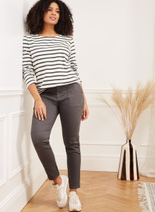 Shop Oralie Organic Cargo Pant Charcoal and more