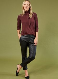 Shop Raven Leather Trouser Caviar Black and more
