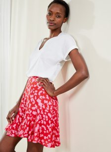 Shop Pippa Skirt Red Silhouette Floral and more