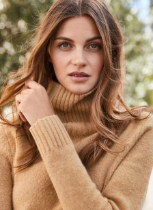Shop Erica Roll Neck Ginger and more