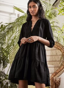 Shop Lucinda Tencel™ Dress Caviar Black and more