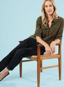 Shop Lindon Tencel™ Safari Shirt Dark Khaki and more