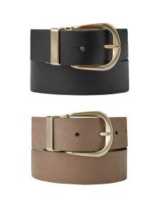 Shop Baukjen Reversible Gold Buckle Belt Light Tan & Black and more