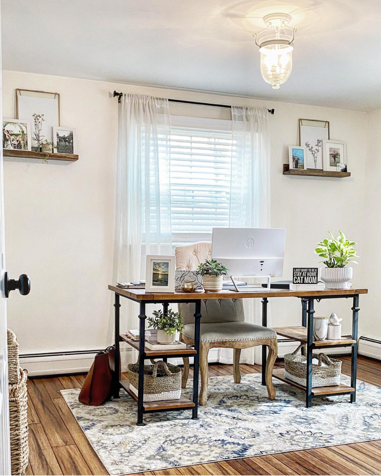 Rustic home office Instagram Post