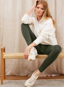 Shop Brooklyn Organic Zip Sweatshirt Soft White and more
