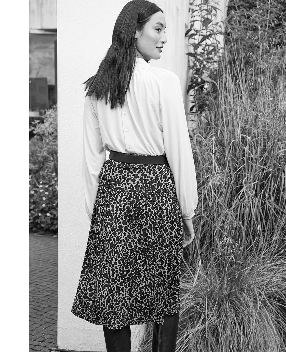 Shop Constance Top Cream, Alanah Skirt Caramel Leopard Print, Baukjen Signature Gold Buckle Belt Darkest Navy and more