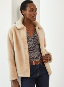 Shop Iman Jacket Champagne and more
