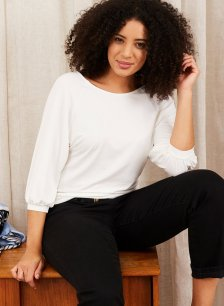 Shop Halina Top with LENZING™ ECOVERO™ Soft White and more