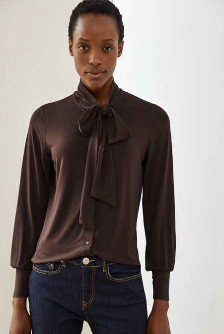Shop Frankie Jean Darkest Indigo, Riley Blouse Rich Chocolate and more