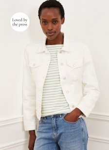 Shop Denim Jacket Off White and more