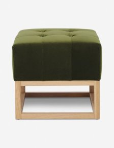 Shop Grasmere Velvet Ottoman, Jade By Ginny Macdonald and more