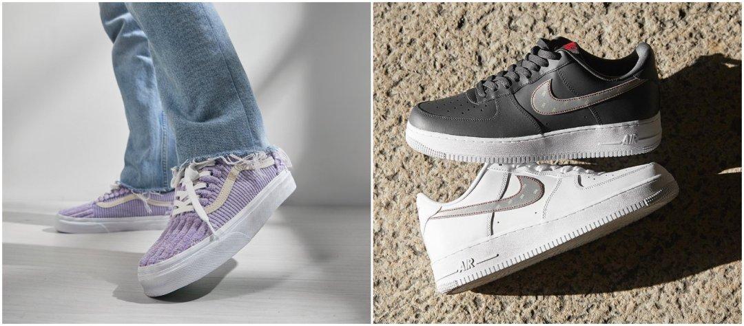 trendi, uudet materiaalit kengänpäällisissä