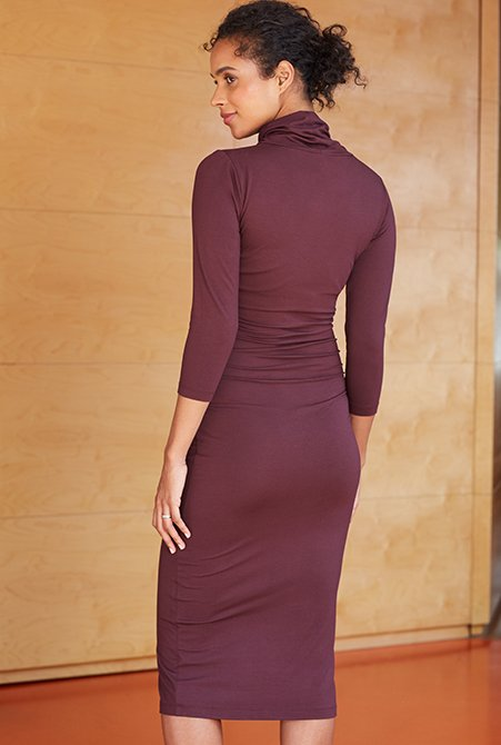 Shop Isabella Oliver Grayson Maternity Dress-Darkest Fig and more