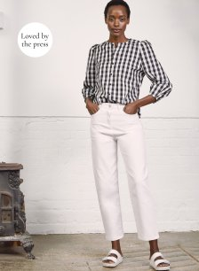Shop Elina Organic Jean Soft White and more