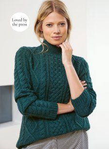 Shop Margot Cable Jumper Forest Green and more