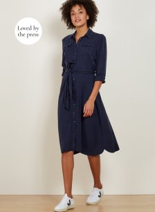 Shop Lindon Shirt Dress Classic Navy and more