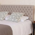 Jezebel Adjustable Full/Queen Tufted Headboard by Christopher Knight Home (Light Beige Fabric)