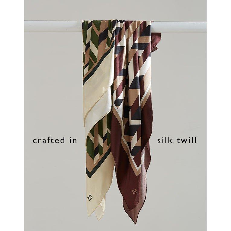 Shop Rey Silk Scarf, Skye Silk Scarf Redwood Herringbone and more