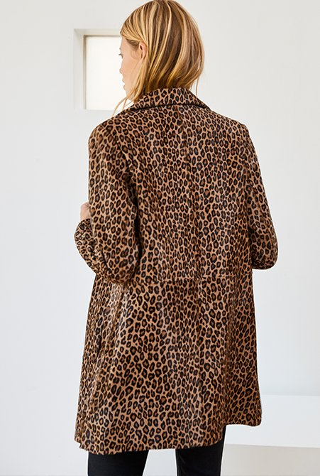 Shop Cristina Coat Leopard Print Leather and more