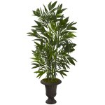 "50"" Bamboo Palm Artificial Tree in Charcoal Urn"
