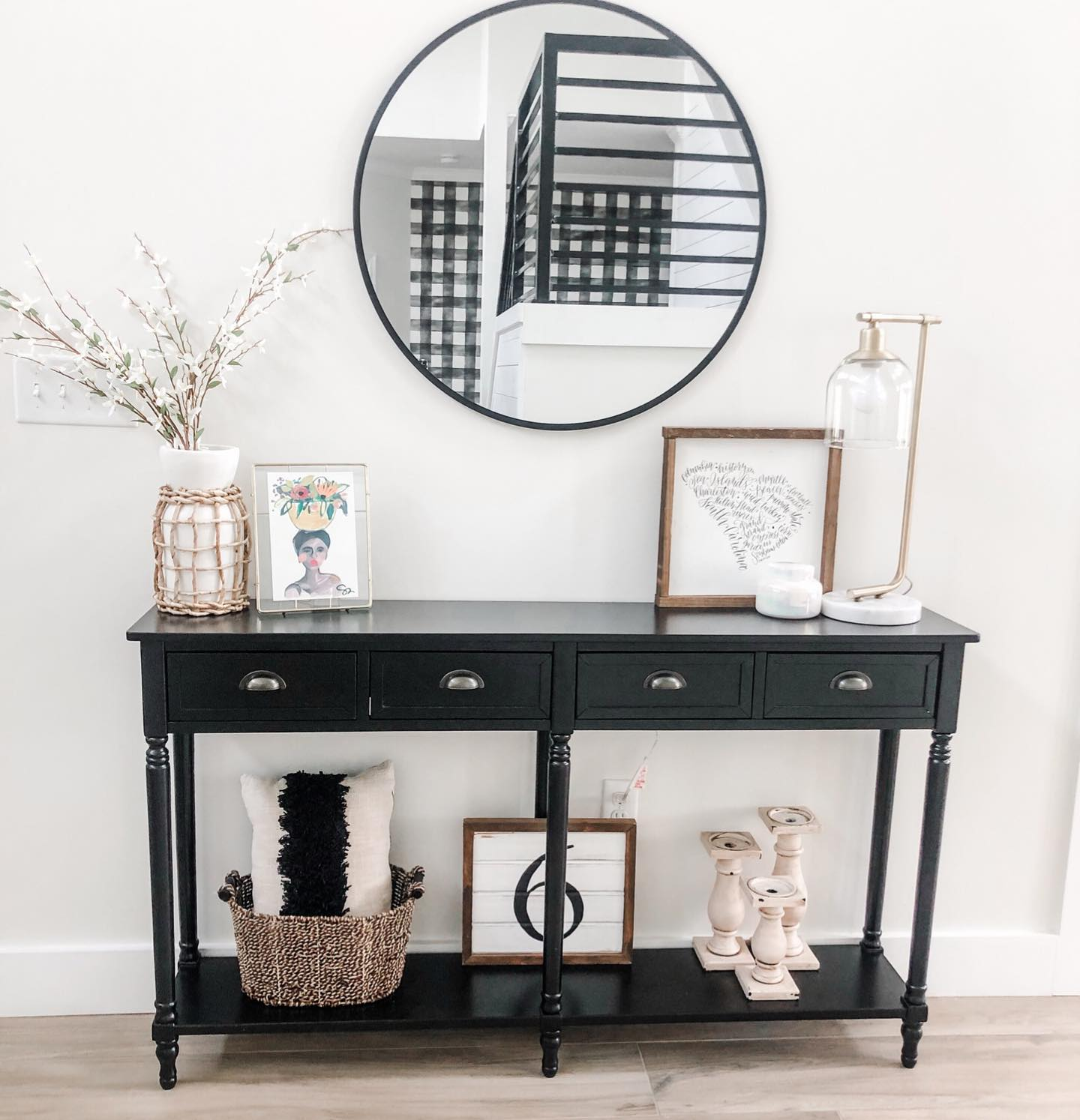 Neutral cool entryway Instagram Post