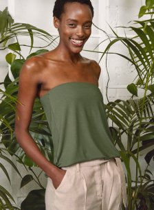 Shop Lily Top with LENZING™ ECOVERO™ Light Khaki and more
