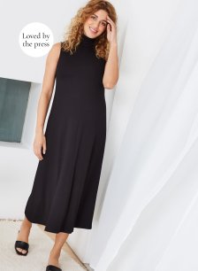 Shop Isabella Oliver Stella Maternity Dress-Caviar Black and more