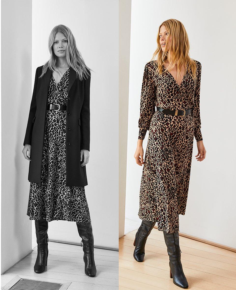 Shop Fenna Coat Caviar Black, Alanah Midi Dress Caramel Leopard Print and more