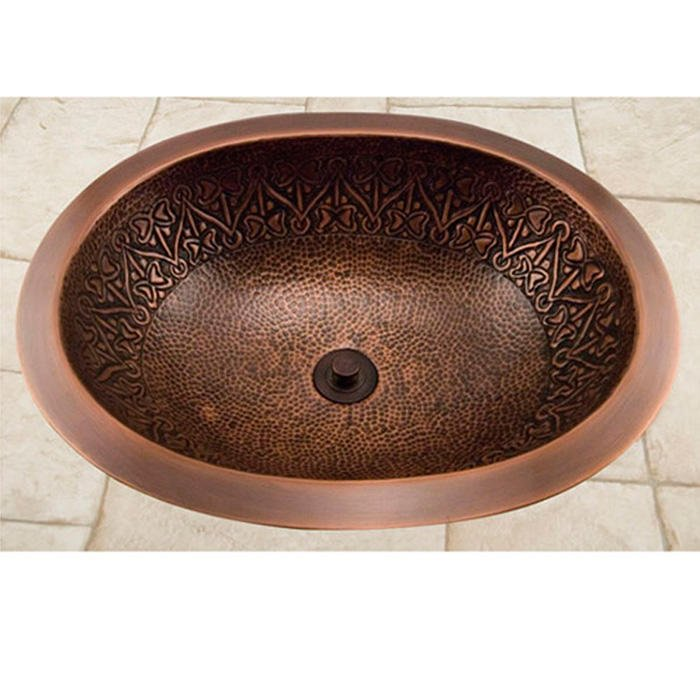19 Almont Decorative Oval Hammered, Oval Copper Bathroom Sink