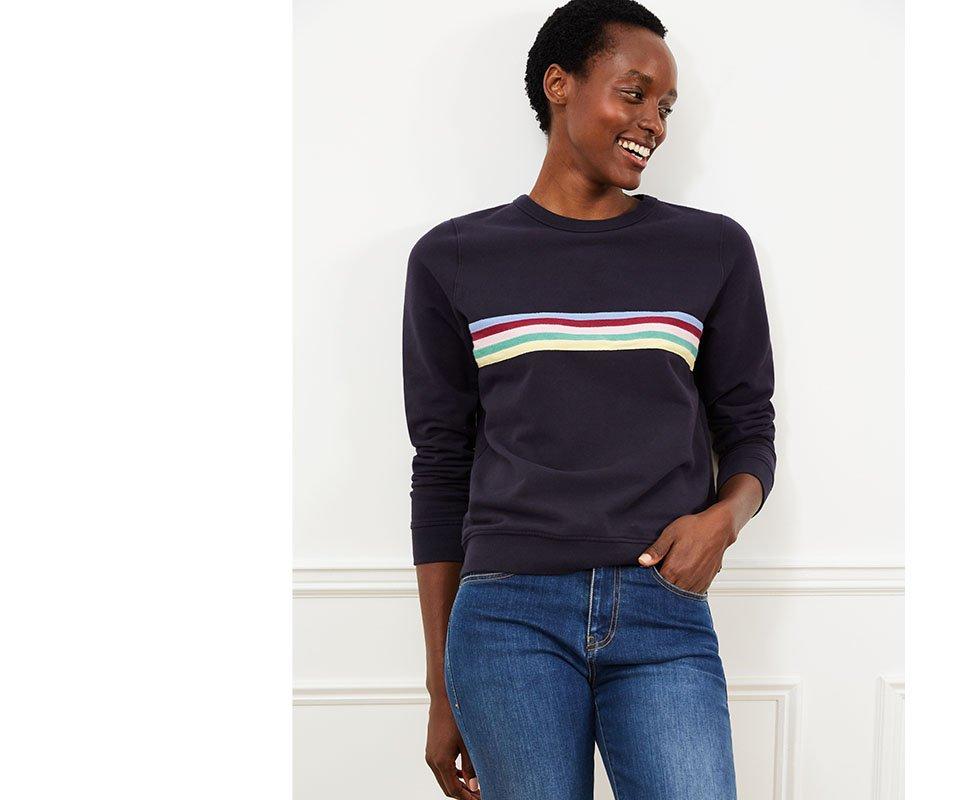 Shop Hope Organic Sweatshirt Classic Navy & Rainbow and more