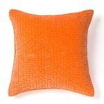 Evan Cotton Velvet Decorative Throw Pillow (Orange), Cottage Home