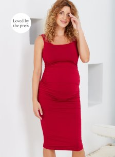 Shop Isabella Oliver Finley Maternity Dress-Pomegranate and more