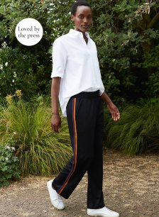 Shop Columba Pant Black with Ochre & Redbrick and more
