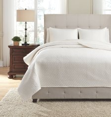 Shop Dietrick 3-Piece Queen Quilt Set, Ivory and more