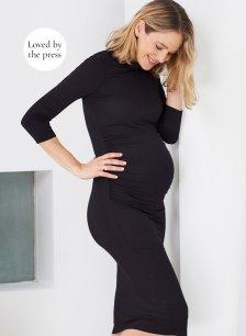 Shop Isabella Oliver Grayson Maternity Dress-Caviar Black and more