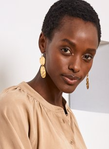 Shop Claudette Earrings Gold and more