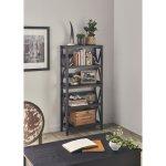 The Gray Barn Xanadu Hill X-frame 5-tier Bookshelf