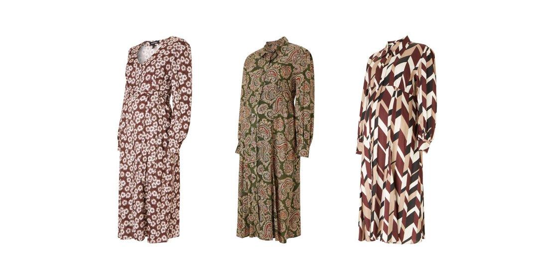 Shop Isabella Oliver Felicity Maternity Dress-Burgundy Primrose Print and more