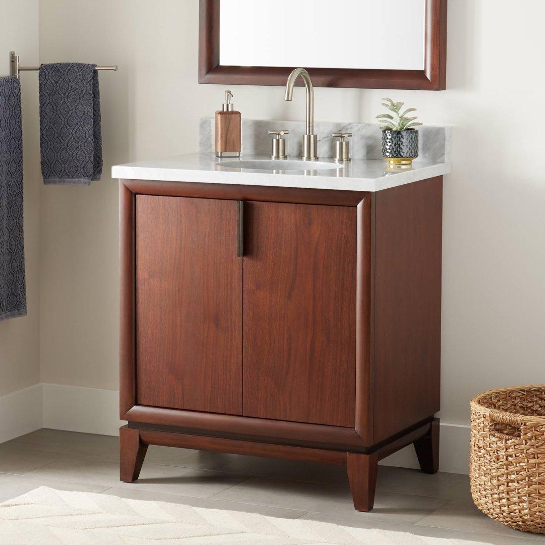Picture of: 30 Talyn Mahogany Vanity For Undermount Sink Light Walnut Bathroom
