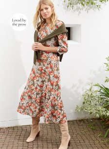Shop Rosemary Dress Khaki & Rose Bloom and more