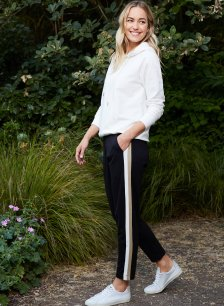 Shop Jay Pant Black with Putty & Soft White and more