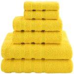 American Soft Linen 6-Piece 100% Genuine Turkish Cotton Premium & Luxury Towel Set for Bathroom & Kitchen