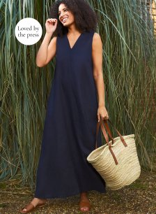 Shop Janie Dress Navy and more