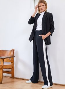 Shop Lily Trouser Caviar Black with Soft White and more